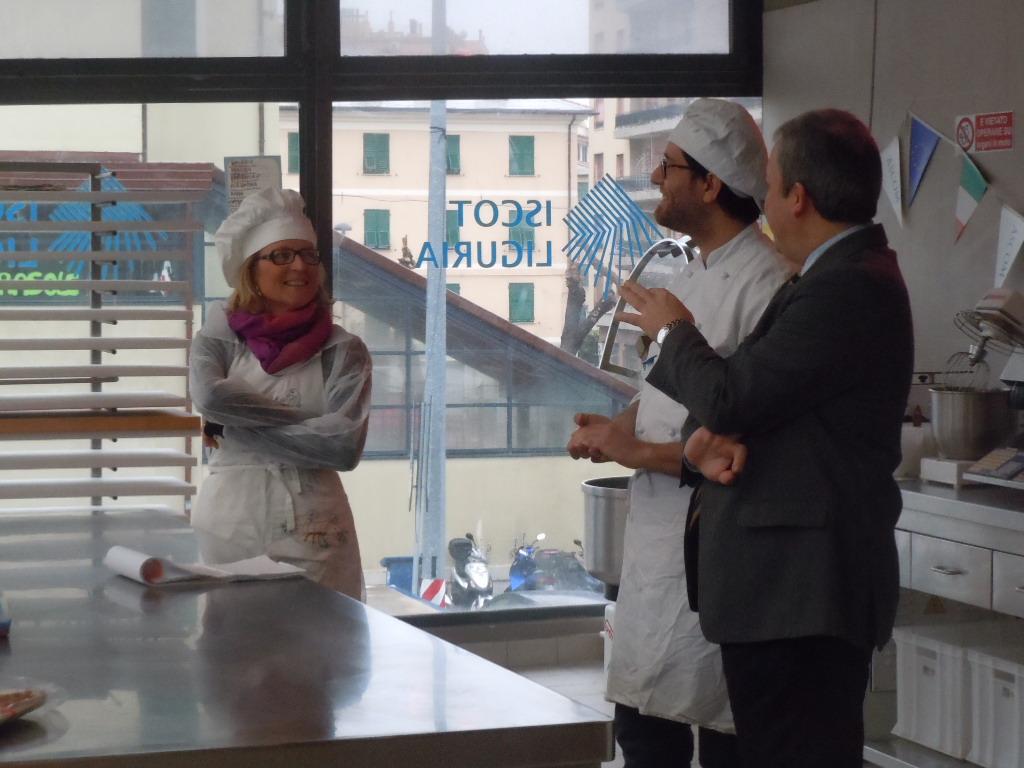 Gli allievi chocolatier e Umberto Curti, Ligucibario