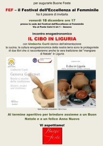 Il cibo in Liguria e... gli auguri di Natale!