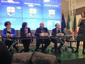 da dx Sonia Carolì, Andrea Zanini, Giovanni Berrino, Paola Noli, Luisa Puppo