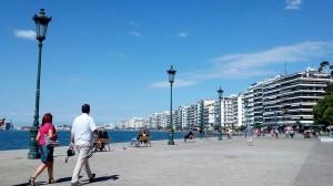 la promenade lungomare di Salonicco