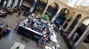 la food court del MOG a genova
