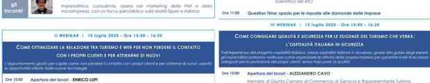 Turismo, Liguria, webinar, formazione